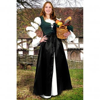 Kirtle with Damask Panel