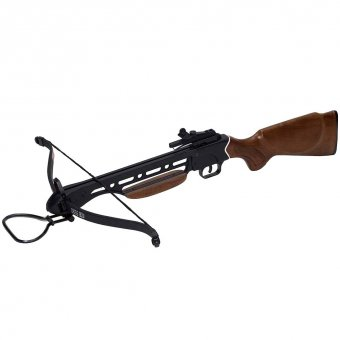 Rifle Crossbow with wooden tiller