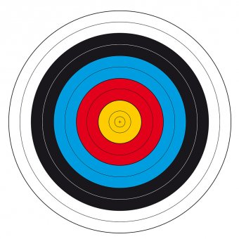 Archery target face FITA 31 1/2, 30-50 m