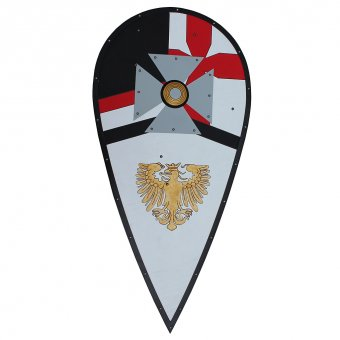 Maltese shield with heraldic Eagle of Pfalz-Saxony