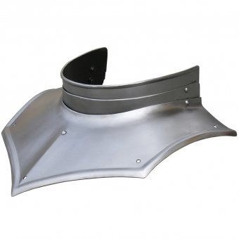 Gorget from steel with open back
