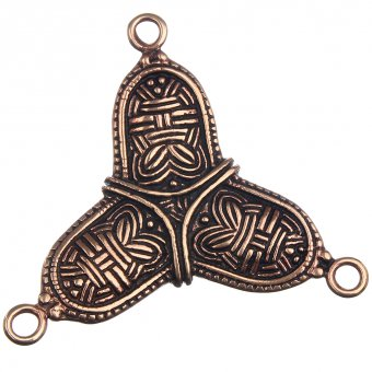 Viking cloak trefoil-shaped ornament, 60 * 69 mm