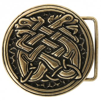 "Belt Buckle ""Celtic Dogs"""