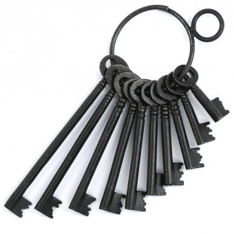 Prison Keyring with 10 iron keys