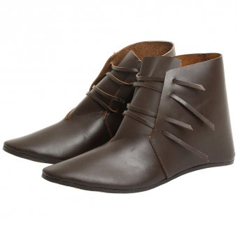 Medieval front laced ankle boot