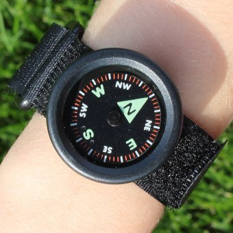 Wrist compass with Velcro fastener