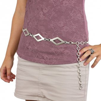 Metal lady's belt