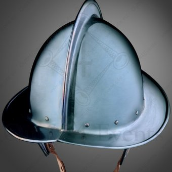 Morion with blue finish