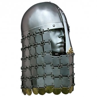Norman helmet with scale aventail