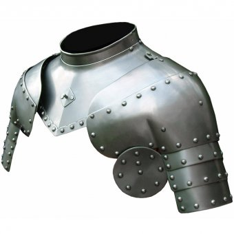 Gorget and Pauldrons from steel