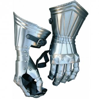 Gauntlets with pyramid formed joint lamellas