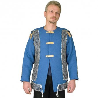 Padded tunic with chain mail fields