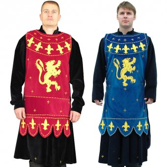 Tabard and surcoat with a lion