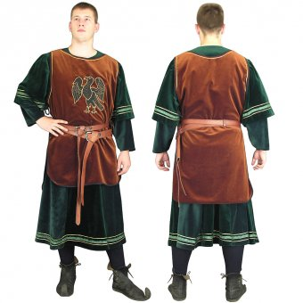 Surcot with Cotte, mens wear from the 15th century