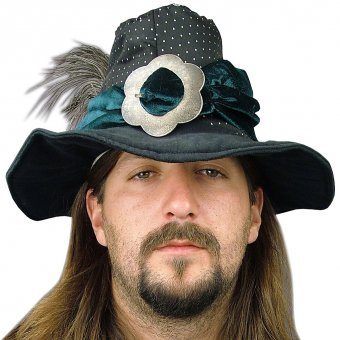 Men's hat with ostrich's feathers