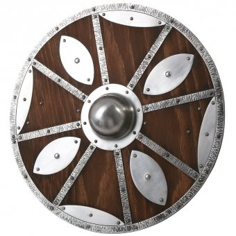 Viking shield with metal fittings 65cm