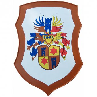Painted decoration shield