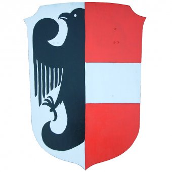 Painted wooden shield