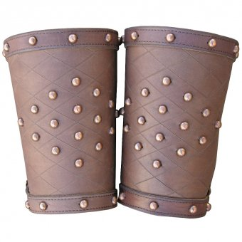 Leather bracers - fantasy (pair)