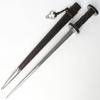 Rondel dagger, 15th cen. with scabbard