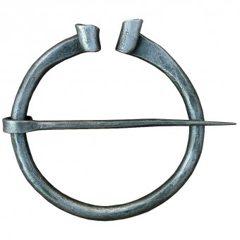 Hand forged cloak pin