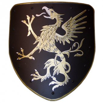 Decorative shield with a coat of arms