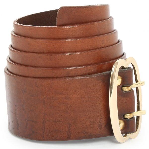 broad leather belt with brass buckle brown outfit4events