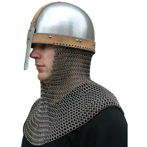 Mail 8 - 14th - early 15th Century Maille Aventail - The Red Knight