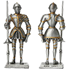 Chess pieces and pewter Knights of the Cross
