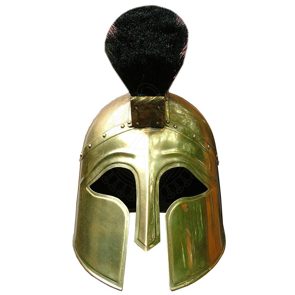 Brass gladiator helmet
