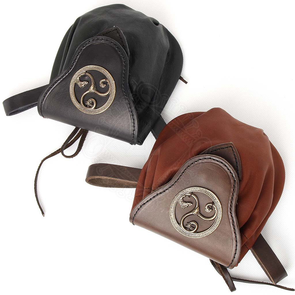 celtic leather belt pouch triskel outfit4events
