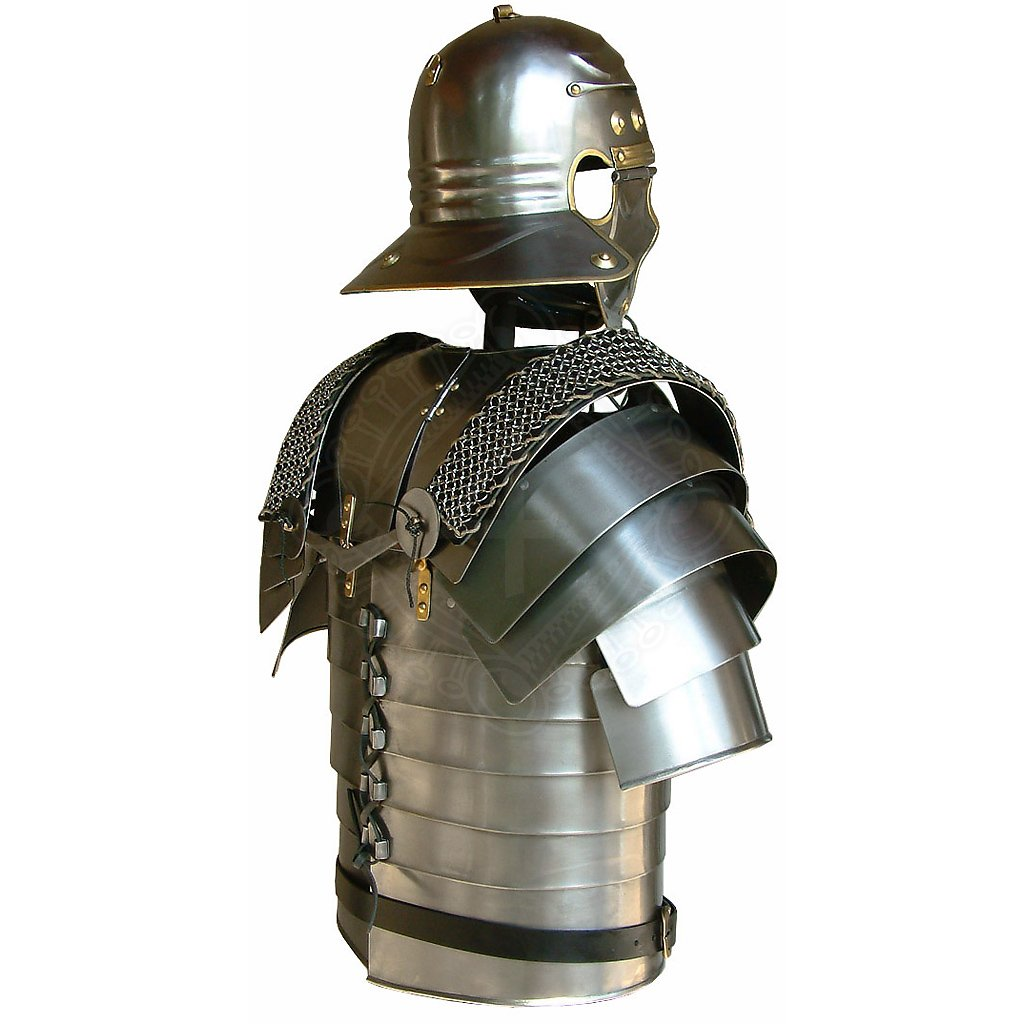 Roman legionaries armor Lorica Segmentata with mail ...