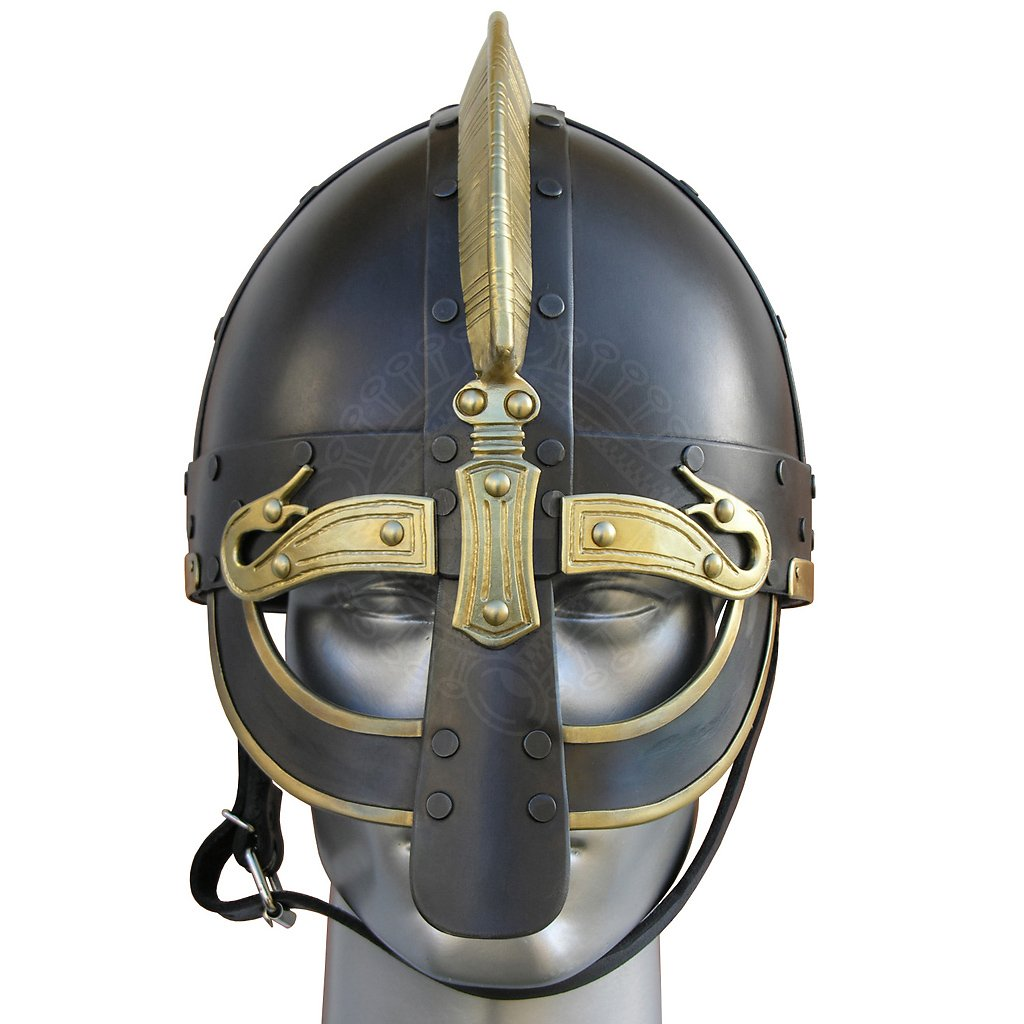 viking helmet de luxe ormr with brass fittings outfit4events