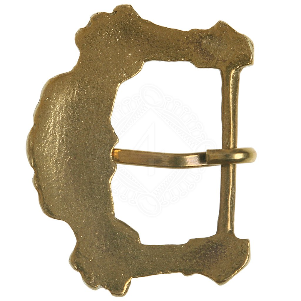 1 L1066 Ornate Antique Bronze Belt Buckle Blank
