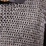 Half Sleeved Chain Mail Shirt, Flat Ring Wedge Riveted (Alt), Natural