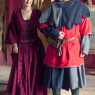 Burgundy Men´s robe Avalon