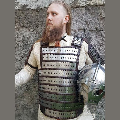 Early Medieval, Birka Type Lamellar Armour, Steel and Leather