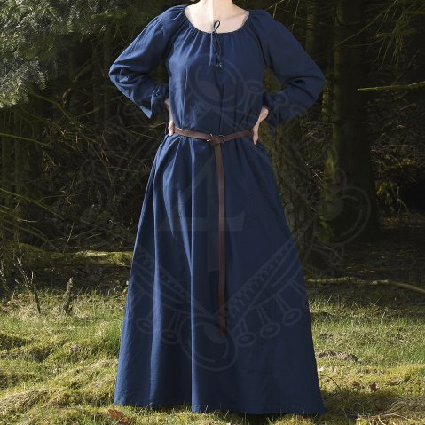 Early Medieval Dress Isabel blue, Sale