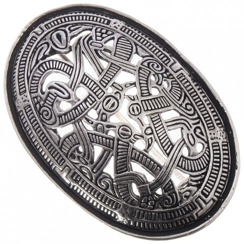 Viking Oval Brooch Morberg in Jelling Style