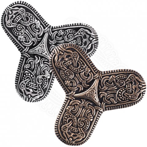 Viking Trefoil Brooch Ornament Tranby