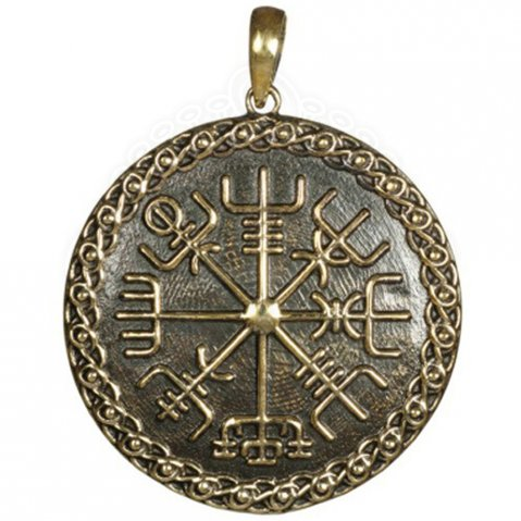 Pendant Vegvísir from bronze