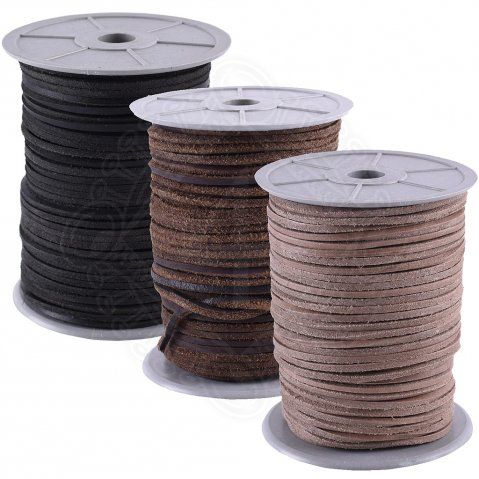 Square leather string 50m