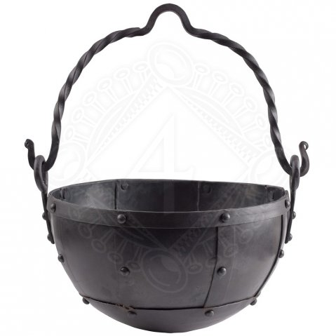 Riveted steel cauldron 3, 9, and 29 L