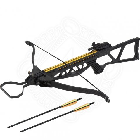 Rifle crossbow with folding prod, 120 lbs