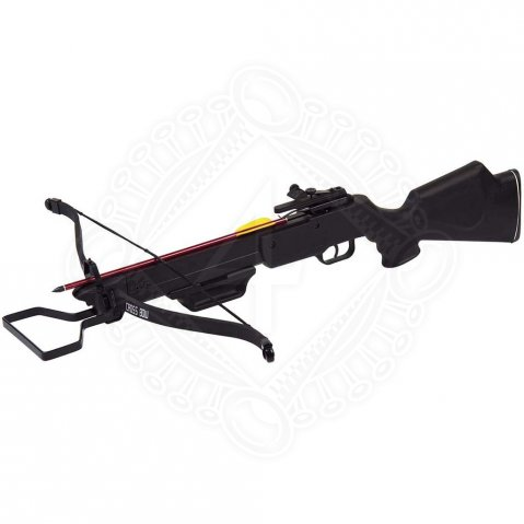 Crossbow rifle with synthetic tiller and fiberglass bow