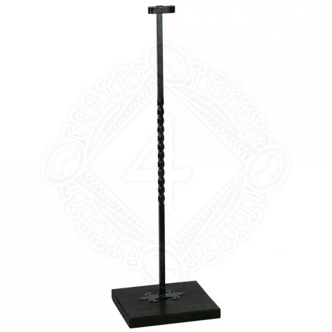 Floor sword stand with distorted iron bar