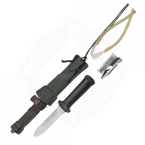 Multipurpose survival knife Aitor with accessory