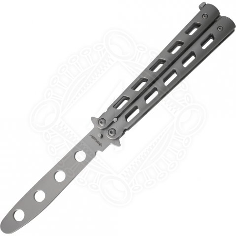 Metal Practice Butterfly Balisong Trainer Training Knife Dull Tool