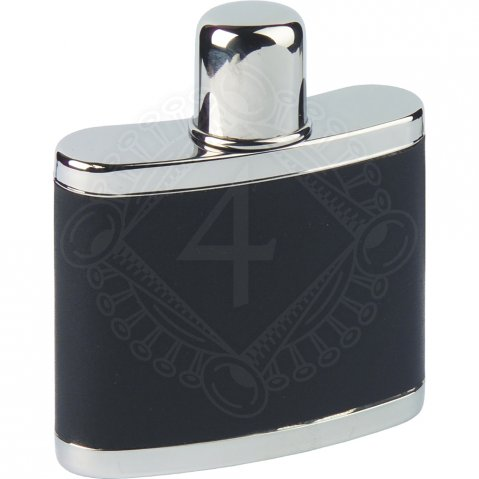 Hip flask with a removable cap