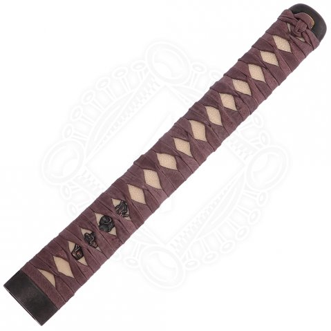 Katana handle: Fuchi, Menuki, Kashira, ray skin and wrapping
